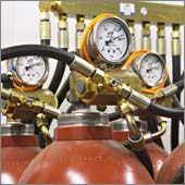 Автоматический комплекс газового пожаротушения