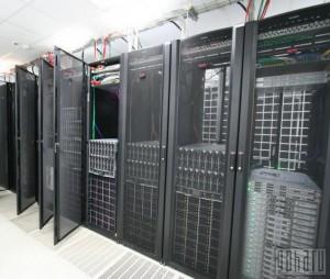Шкафы с блейд серверами в дата-центре «Траст-Инфо»
