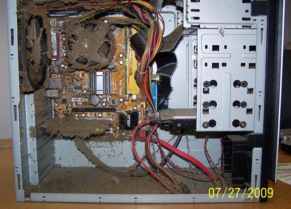 сервер в грязи