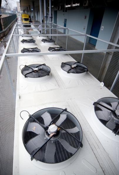 Внешний блок системы охлаждения ЦОД LinxTelecom