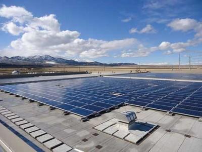 солнечные батареи на крыше дата-центра ebay