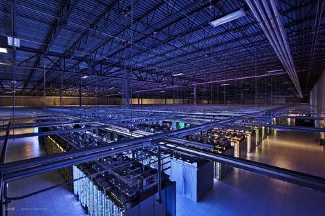 серверная инфраструктура в дата-центре Google
