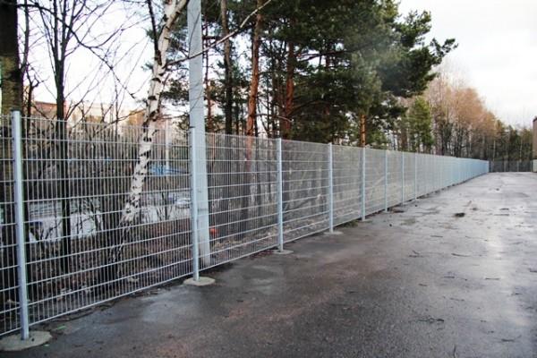Забор охраняемого периметра ЦОД Viikinmäki, Финляндия