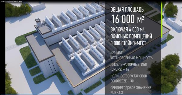 3D Модель дата-центра дата-центра Datapro