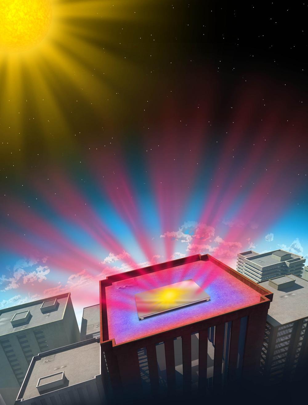 Иллюстрация принципа действия фотонного радиатора