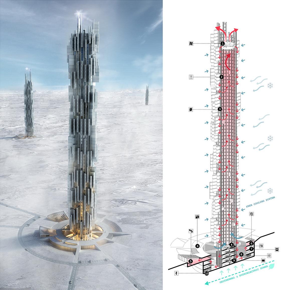 дата-центр Data Tower в форме небоскреба
