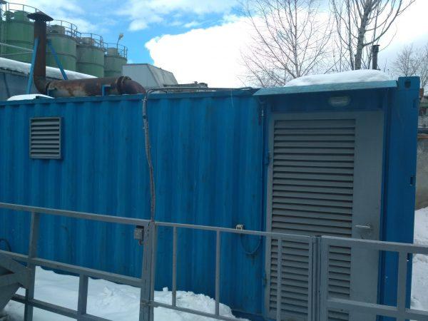 Электропитание  резервирует  ДГУ Wilson 550кВт  контейнерного типа с запасом дизельного топлива общим объемом 5000л, запас автономии по ДТ 2-е суток.