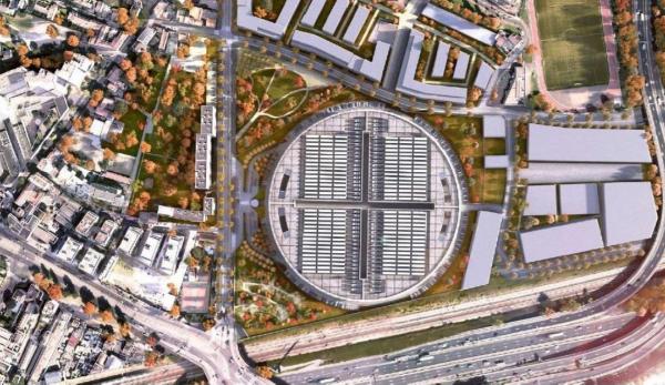 Фотоотчет: каким будет круглый кампус ЦОД InterXion в Париже?