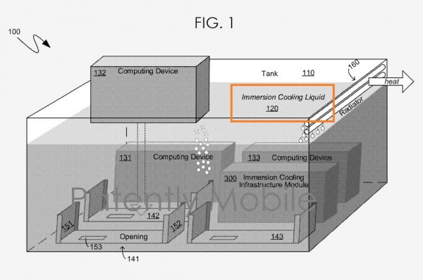 Microsoft патентует систему иммерсионного охлаждения серверов